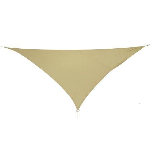 10T WILSON Dreieck Tarp 3,6m je Seite Sonnensegel wetterbeständig 90% UV Schutz Sonnenschirm Regenschutz wasserdicht inkl. Abspannseile für Camping Garten Terasse Balkon