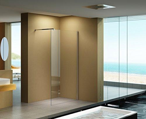 110x200 cm duschabtrennung lily klarglas duschwand walk in dusche 10 mm esg sicherheitsglas. Black Bedroom Furniture Sets. Home Design Ideas