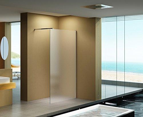 120x200 cm duschabtrennung lily frost milchglas duschwand walk in dusche 10 mm esg. Black Bedroom Furniture Sets. Home Design Ideas