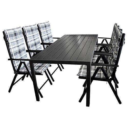 13tlg gartengarnitur gartenm bel set gartentisch 205x90cm. Black Bedroom Furniture Sets. Home Design Ideas