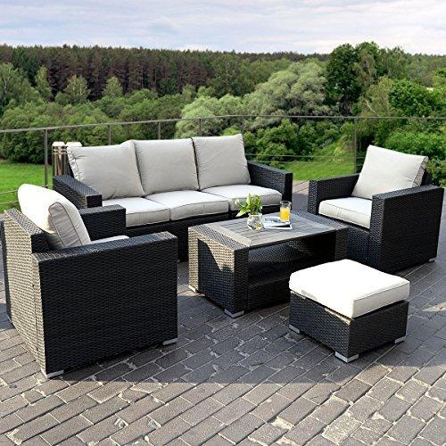 17tlg lounge set gartenm bel loungem bel polyratten. Black Bedroom Furniture Sets. Home Design Ideas