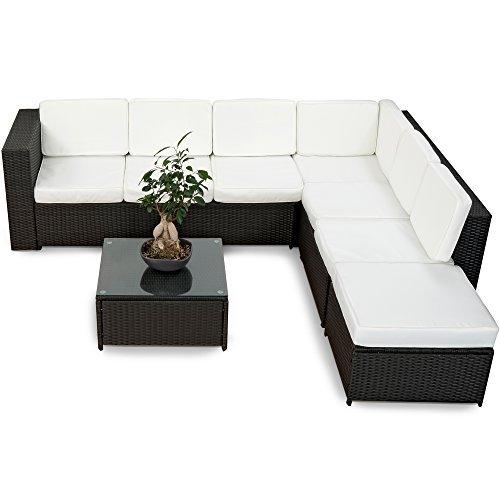 20tlg deluxe gartenm bel lounge set garnitur bahamas sitzgruppe gartenm bel rattan set geflecht. Black Bedroom Furniture Sets. Home Design Ideas