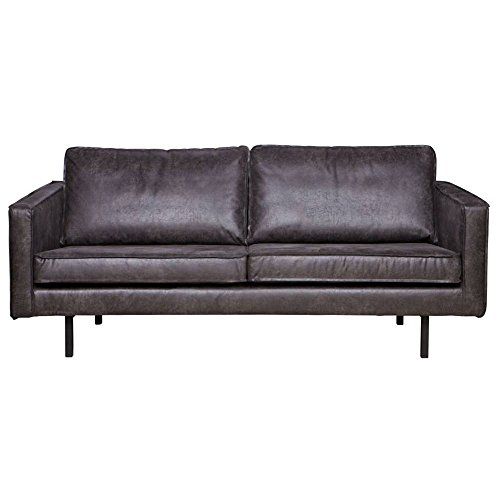 2 5 sitzer sofa rodeo echtleder leder lounge couch garnitur schwarz m bel24 shop. Black Bedroom Furniture Sets. Home Design Ideas