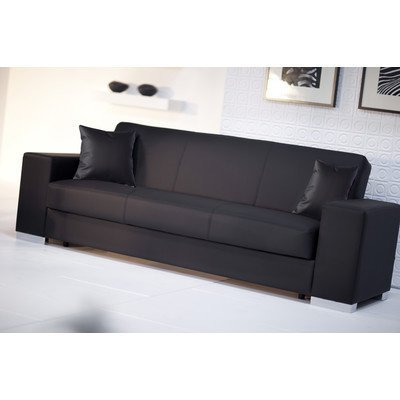 3 sitzer schlafsofa siret polsterfarbe schwarz m bel24. Black Bedroom Furniture Sets. Home Design Ideas