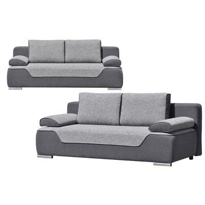 3 sitzer schlafsofa valles polsterfarbe hellgrau und. Black Bedroom Furniture Sets. Home Design Ideas