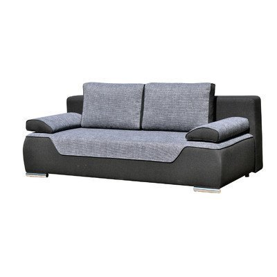 m bel24 3 sitzer schlafsofa valles polsterfarbe schwarz und mittelgrau 0. Black Bedroom Furniture Sets. Home Design Ideas