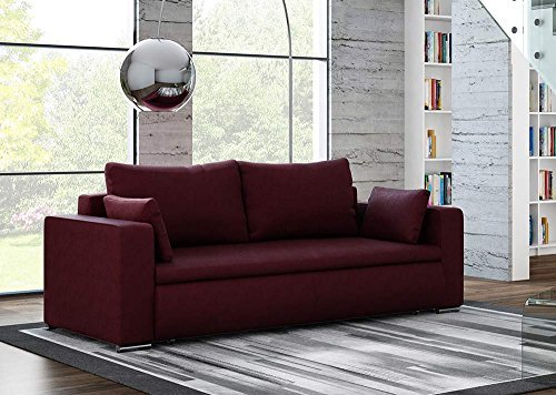 3 sitzer sofa mit einem auberginefarbenem. Black Bedroom Furniture Sets. Home Design Ideas