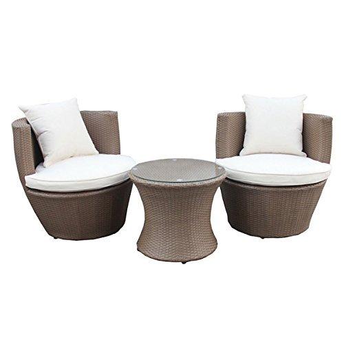 3 tlg gartenm bel set tisch sessel stapelbar kunst