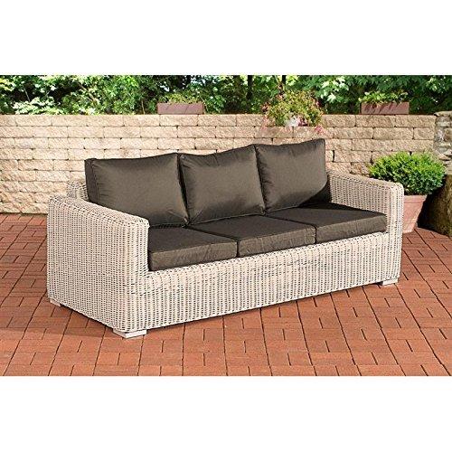 3er sofa madeira anthrazit perlwei m bel24. Black Bedroom Furniture Sets. Home Design Ideas