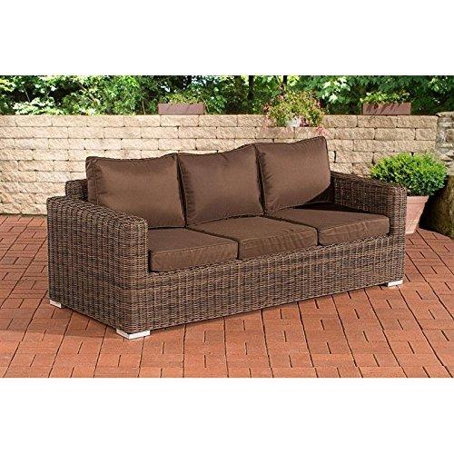 3er sofa madeira terrabraun braun meliert m bel24. Black Bedroom Furniture Sets. Home Design Ideas