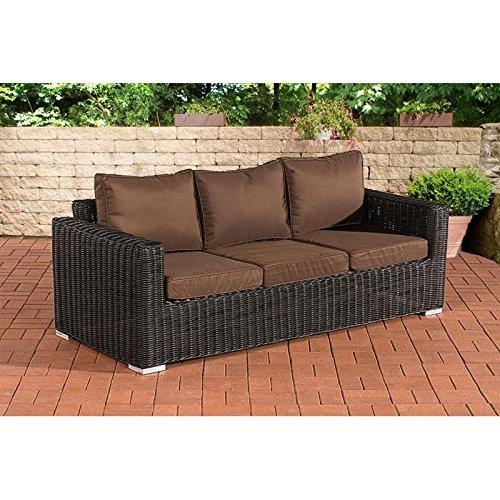 3er sofa madeira terrabraun schwarz 0 m bel24 m bel g nstig. Black Bedroom Furniture Sets. Home Design Ideas