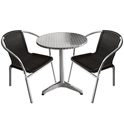 m bel24 m bel g nstig 3tlg bistro set aluminium bistrotisch 60cm 2x alu bistrostuhl. Black Bedroom Furniture Sets. Home Design Ideas