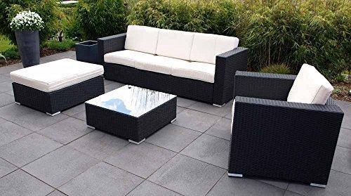 4 tlg lounge set inkl 4 r cken und 5 sitzkissen aus. Black Bedroom Furniture Sets. Home Design Ideas