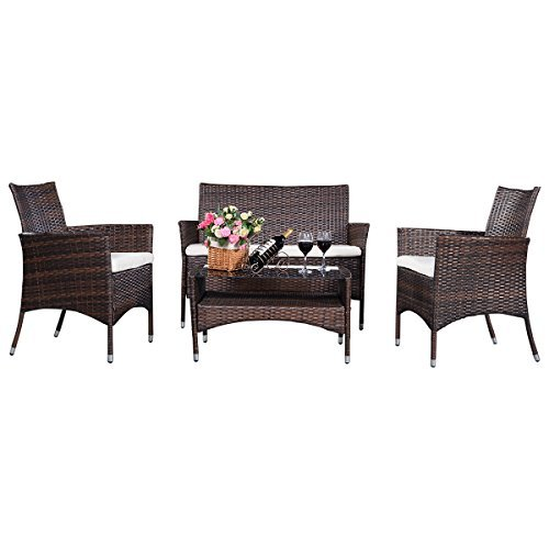 4tlg gartengarnitur gartenmbel rattanmbel lounge. Black Bedroom Furniture Sets. Home Design Ideas