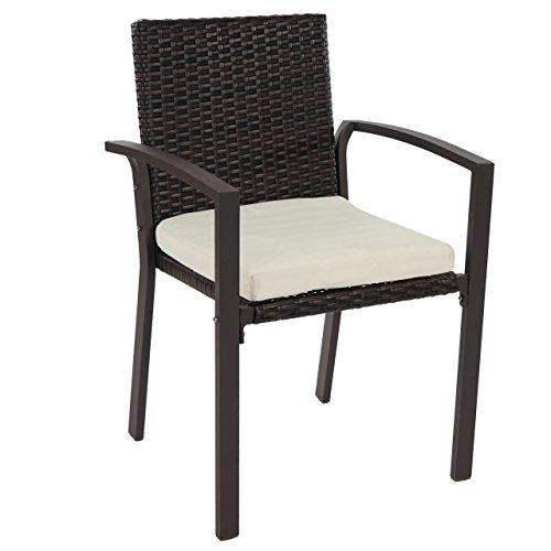 mendler 4x poly rattan gartenstuhl palma ii stapelstuhl. Black Bedroom Furniture Sets. Home Design Ideas