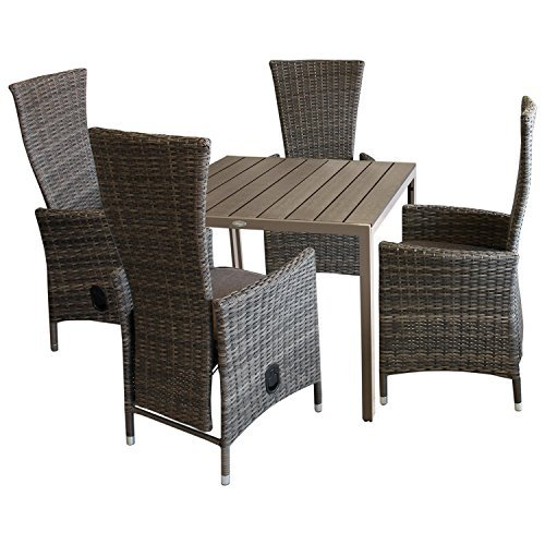 5tlg balkonm bel gartenm bel terrassenm bel bistro set gartengarnitur sitzgruppe gartentisch. Black Bedroom Furniture Sets. Home Design Ideas