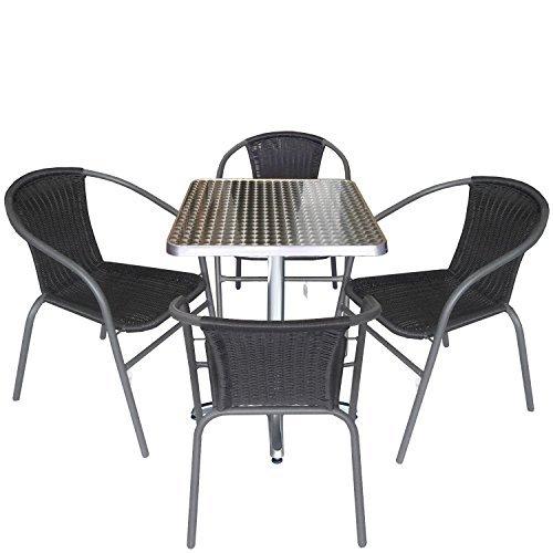 m bel24 m bel g nstig 5tlg gartengarnitur balkonm bel. Black Bedroom Furniture Sets. Home Design Ideas