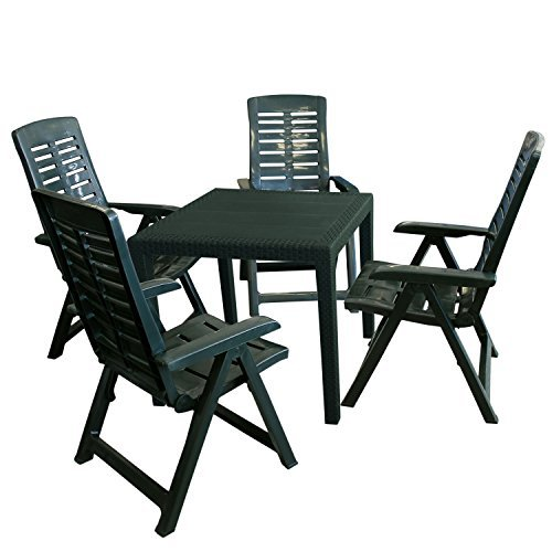 5tlg gartengarnitur gartenm bel set gartentisch. Black Bedroom Furniture Sets. Home Design Ideas