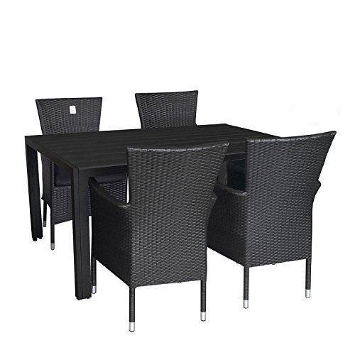 multistore 2002 5tlg gartengarnitur terrassenm bel set aluminium polywood tisch 150x90cm alu. Black Bedroom Furniture Sets. Home Design Ideas