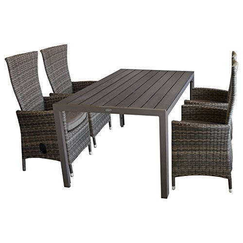 5tlg gartenm bel terrassenm bel set gartengarnitur sitzgruppe gartentisch polywood 150x90cm. Black Bedroom Furniture Sets. Home Design Ideas
