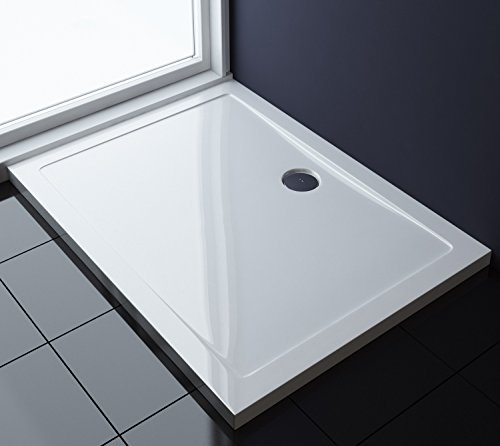 TBH: 80x100x4cm Design Duschtasse Faro2 in Weiß, Duschwanne, Acrylwanne