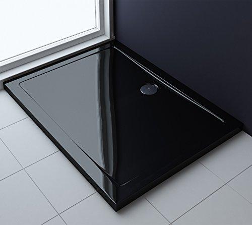 80x100x4 cm Design Duschtasse Faro2b in schwarz, Duschwanne, Acrylwanne