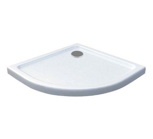 80x80 duschtasse duschwanne extra flach 50 mm viertelkreis wei m bel24. Black Bedroom Furniture Sets. Home Design Ideas