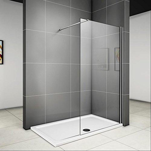 90x185cm duschabtrennung walk in 6mm nano duschwand dusche for Paroi de douche en plexiglas