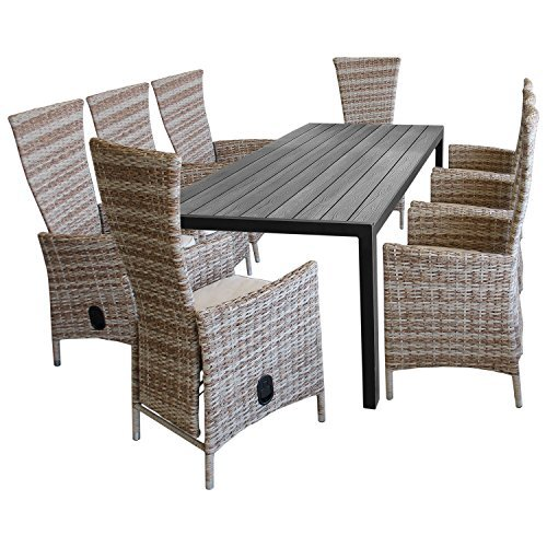 9tlg gartenm bel terrassenm bel set sitzgarnitur gartengarnitur sitzgruppe polywood gartentisch. Black Bedroom Furniture Sets. Home Design Ideas