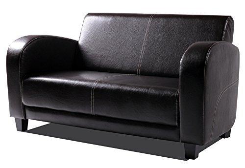 moebel-eins ANTO Sofa 2-Sitzer Antikbraun, Füsse nussbaumfarben