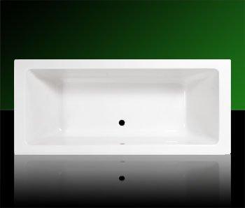 Acryl Badewanne Wanne Rechteck Rechteckwanne 180 x 80 inklusive Ablauf und Überlauf und Träger