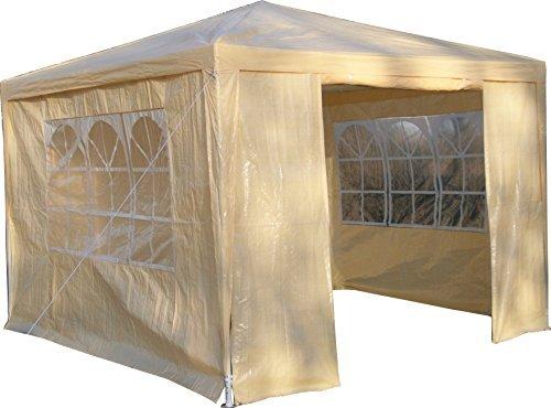 Airwave Pavillon 3 x 3 m, beige, Inklusive 1 x einzigartig gestalteter Windstangen für besondere Stabilität