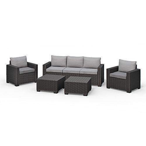 allibert california lounge set polyrattan gartenm bel rattanoptik sitzgruppe 5 teilig m bel24. Black Bedroom Furniture Sets. Home Design Ideas