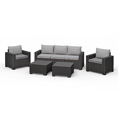 allibert california lounge set polyrattan gartenm bel. Black Bedroom Furniture Sets. Home Design Ideas