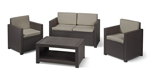 m bel24 m bel g nstig allibert lounge set garten monaco 4 teiliges rattanoptik set 199 x. Black Bedroom Furniture Sets. Home Design Ideas