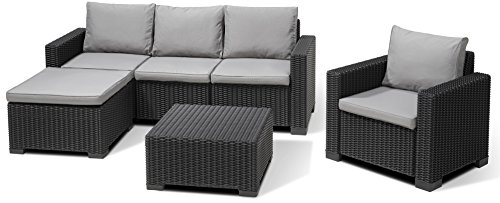 allibert lounge set garten moorea 4 teiliges rattanoptik set 199 x 68 x 72 cm balkonm bel. Black Bedroom Furniture Sets. Home Design Ideas