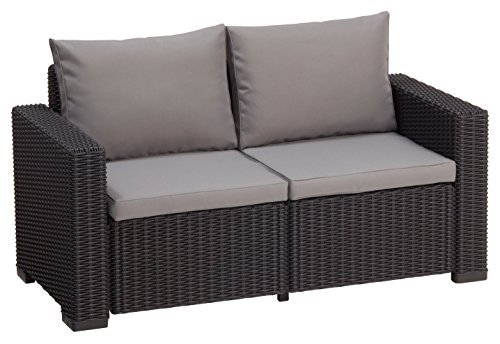 allibert lounge sofa rattan california sofa 2 sitzer grau m bel24. Black Bedroom Furniture Sets. Home Design Ideas