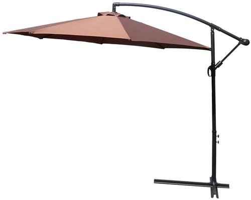 Ampelschirm Sonnenschirm Schirm Regenschirm Gartenschirm Gartenampelschirm Braun