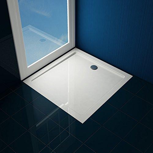 aquamarin duschwanne duschtasse einbaudusche dusche flach wanne aus robustem kunststoff 4 cm. Black Bedroom Furniture Sets. Home Design Ideas