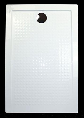 art of baan extra flache duschtasse duschwanne aus acryl abs antirutsch wei 120x80x3 5cm. Black Bedroom Furniture Sets. Home Design Ideas