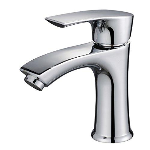 Auralum® Design Einhebel Mischbatterie Armatur Wasserhahn verchromt für Wachbecken Badezimmer Type 06