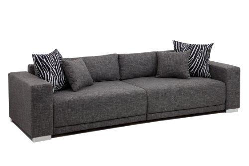 b famous big sofa london xxl struktur grau 287x103 cm m bel24 m bel g nstig. Black Bedroom Furniture Sets. Home Design Ideas