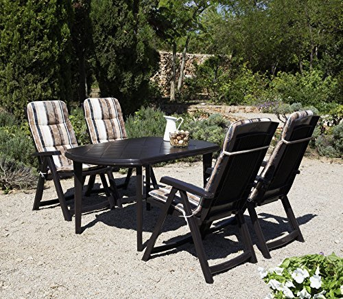 Best 9 tlg gartenm bel diningset elise braun m bel24 for Best moebel24