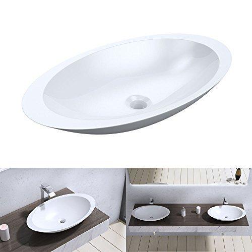 bth 59x35x11 cm design aufsatzwaschbecken colossum802. Black Bedroom Furniture Sets. Home Design Ideas