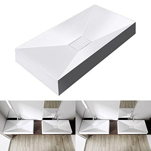 bth 70x43x12 cm design aufsatzwaschbecken colossum16 aus gussmarmor eckige form m bel24. Black Bedroom Furniture Sets. Home Design Ideas