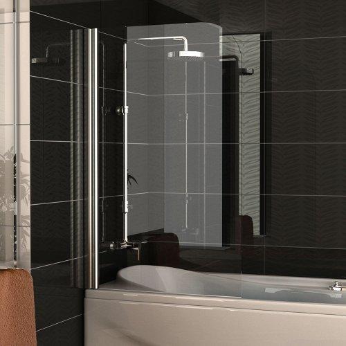 m bel24 badewannenabtrennung echtglas trennwand ca 75 x 130 cm badewanne duschabtrennung aus. Black Bedroom Furniture Sets. Home Design Ideas