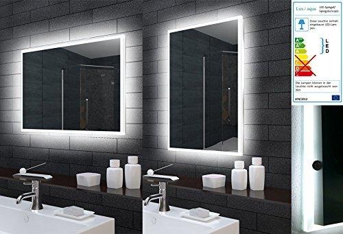 Lux-aqua Badezimmerspiegel Badspiegel Wandspiegel LED Beleuchtung 50x70cm MLE5700
