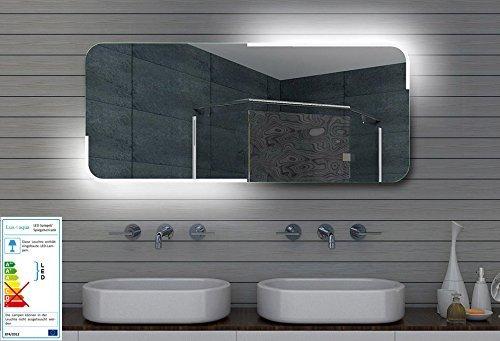 Lux-aqua Badezimmerspiegel Wandspiegel Lichtspiegel LED Beleuchtung 120x60 cm ML120