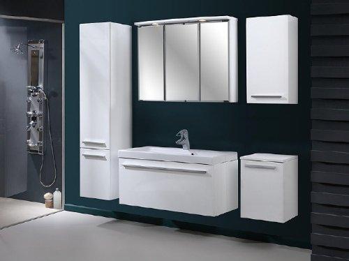 badm bel set atos wei hochglanz badm bel mit. Black Bedroom Furniture Sets. Home Design Ideas