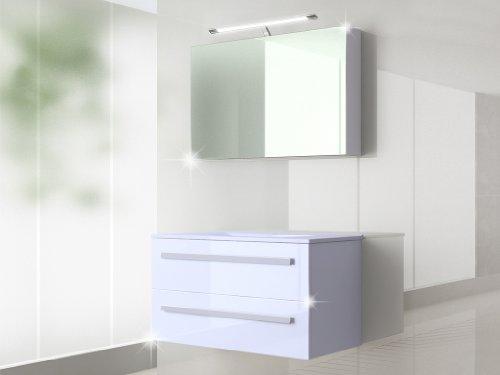 badm bel set badezimmerm bel waschbeckenschrank mit waschtisch spiegelschrank 90cm oder 120 cm. Black Bedroom Furniture Sets. Home Design Ideas
